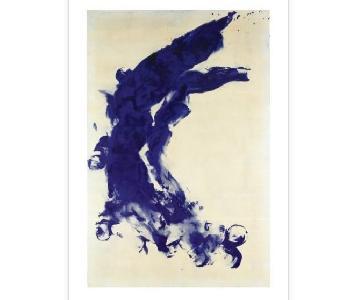 Yves Klein Framed Art Print - Anthropometrie
