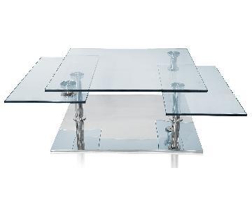 Modani Glass Chrome Extendable Coffee Table