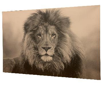 Black & White Lion Wall Art