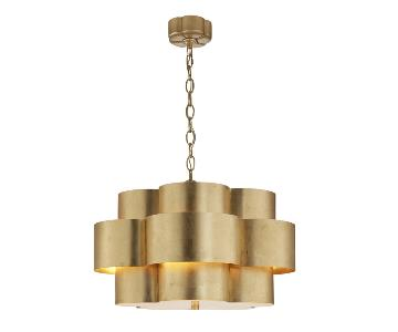 Visual Comfort Gilded Arabelle 5 Light Pendant