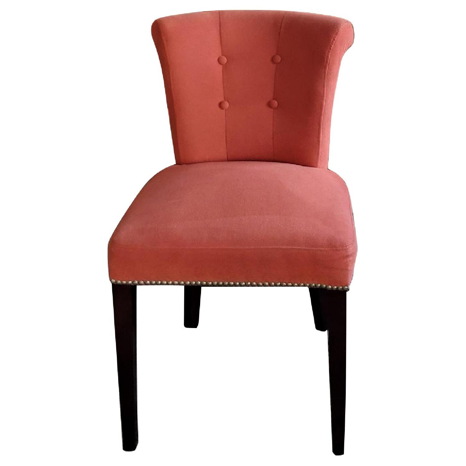 Modern Upholstered Rolled Back Dining Chairs
