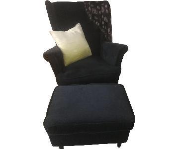 Ikea Strandmon Wing Chair & Ottoman