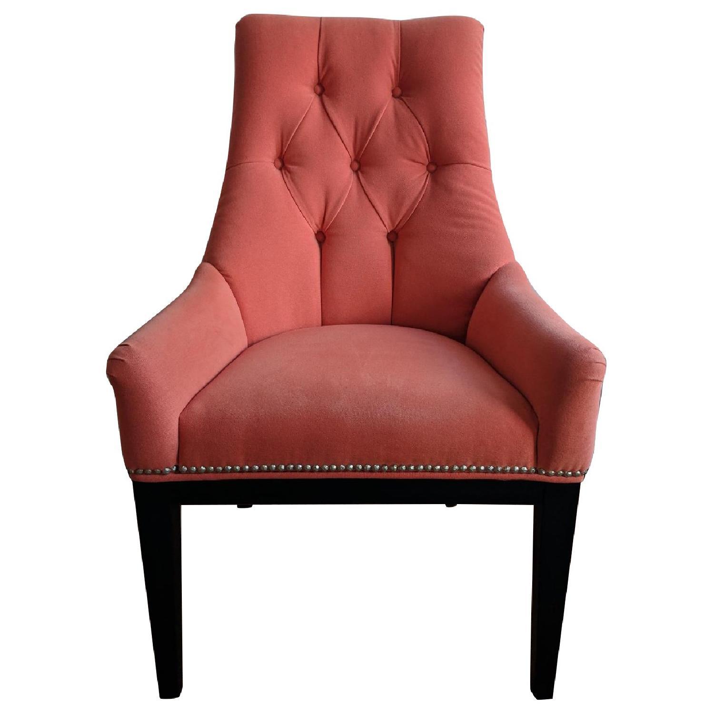 Modern Salmon Upholstered Side Chair