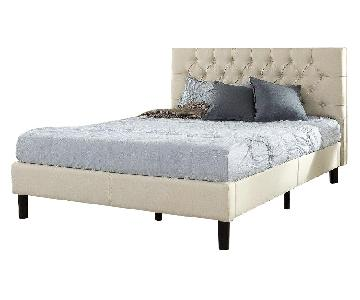 Zinus Upholstered Modern Tufted Platform Full Bed