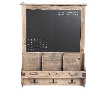 Urban Outfitters Reclaimed Wood Chalkboard w/ Hooks