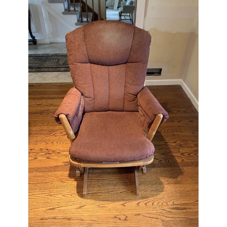 Dutailier Burgundy Red Nursing Chair-0