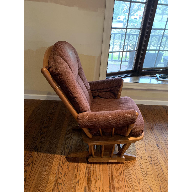 Dutailier Burgundy Red Nursing Chair-1