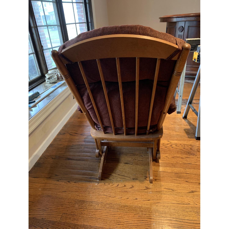 Dutailier Burgundy Red Nursing Chair-2