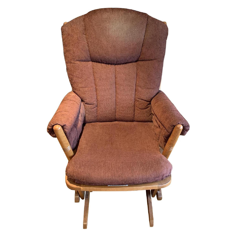 Dutailier Burgundy Red Nursing Chair