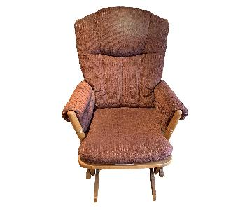 Dutailier Burgundy Red Nursing Chair