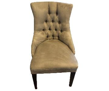 Crate & Barrel Suede Accent Chair w/ Nailheads