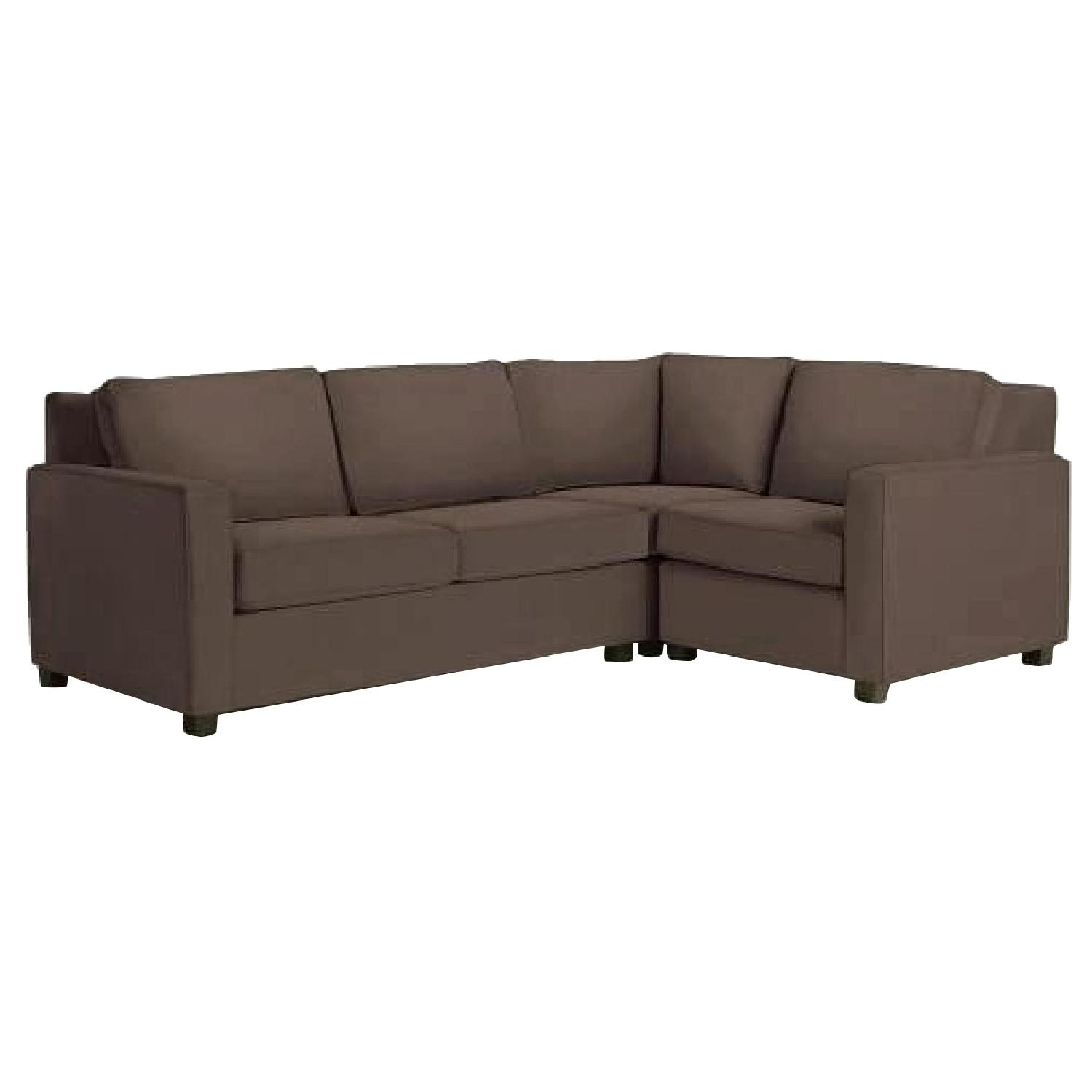West Elm Henry 3-Piece Sectional Sofa in Espresso