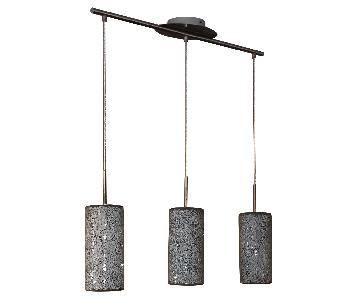 Silver Crackled Hanging Lights