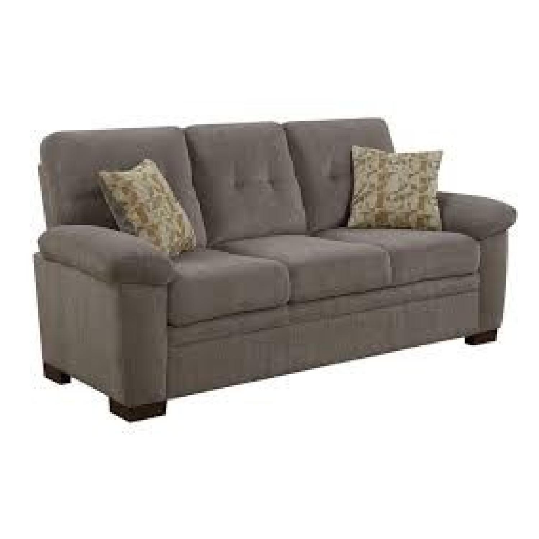 Oatmeal Chenille Comfy Sofa