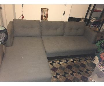 West Elm Crosby Reversible Sectional Sofa
