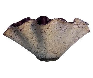 Vintage Krosno Jozefina Handkerchief Glass Vase