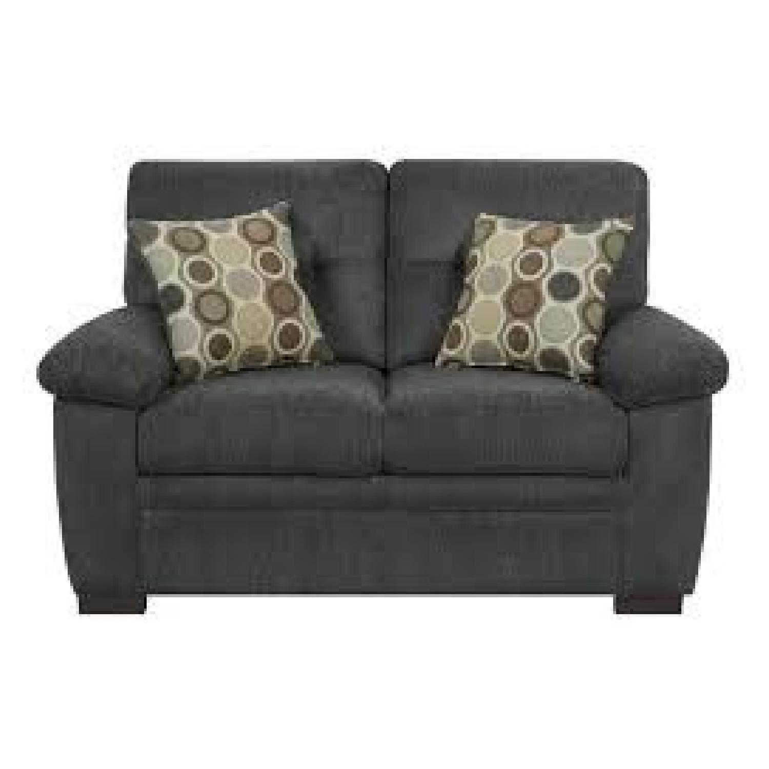 Charcoal Chenille Loveseat