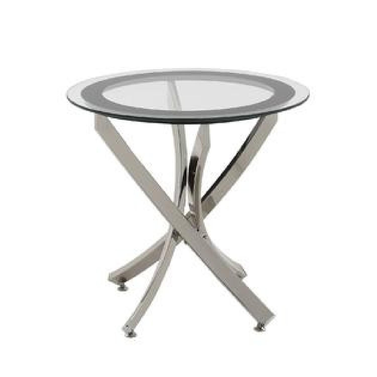 Glass Top Black Frame End Table