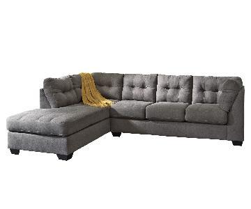 Raymour & Flanigan 2-Piece Full Sleeper Sectional Sofa