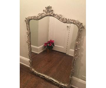 Antique Regency Style Carved Gilt Wood/Silver Wall Mirror