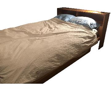 Gothic Furniture Pine Platform Storage Bed w/ Headboard