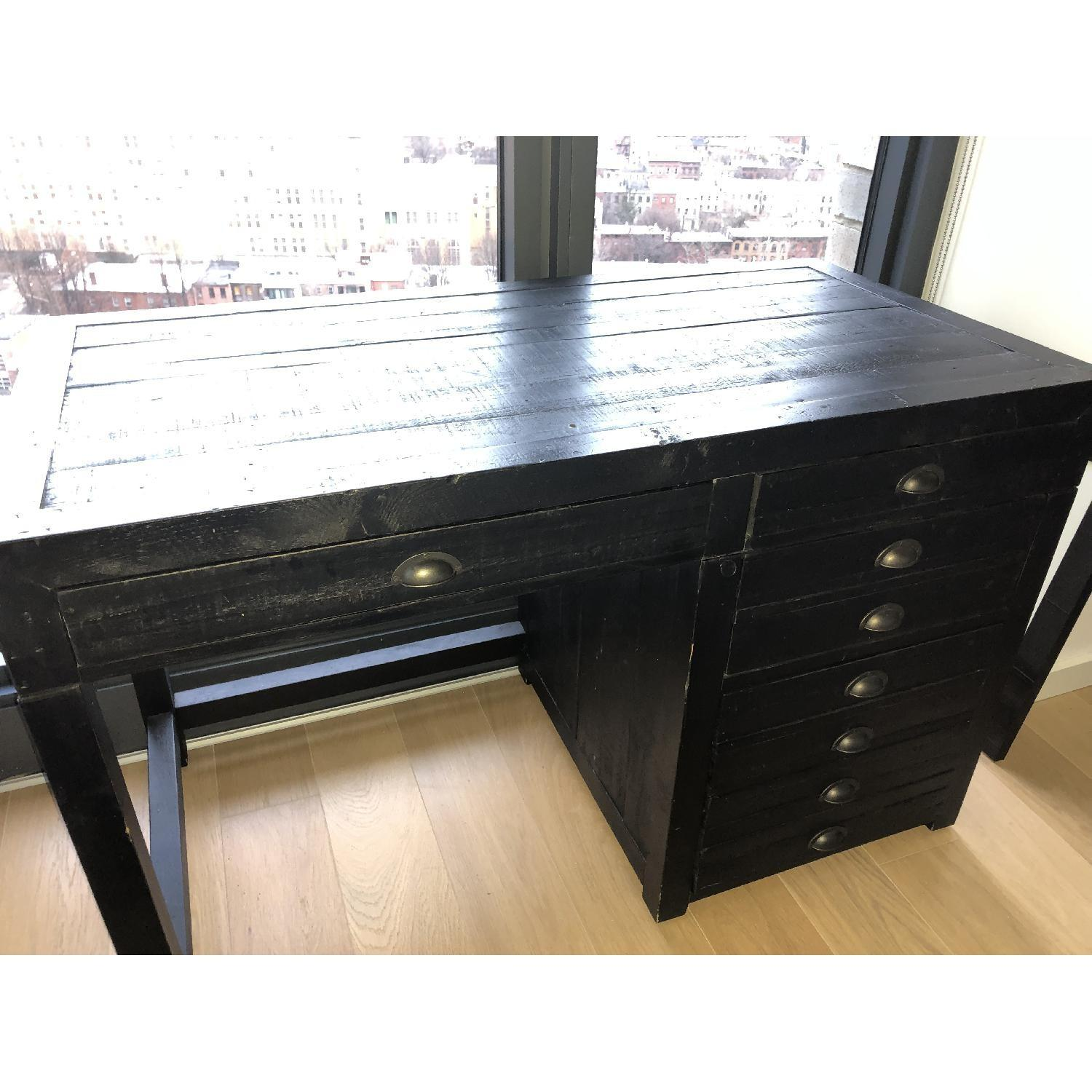 Restoration Hardware Printmaker's Wooden Desk-2