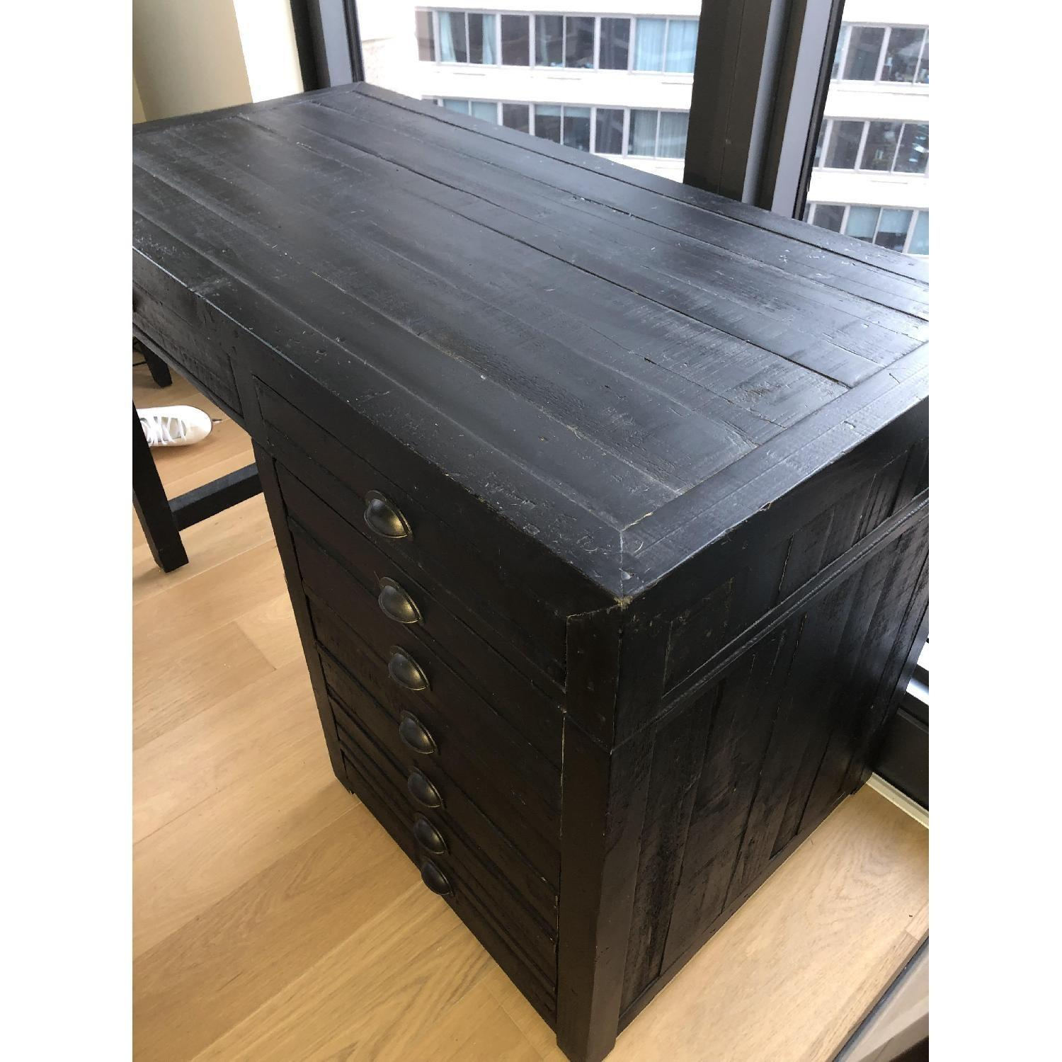 Restoration Hardware Printmaker's Wooden Desk-8