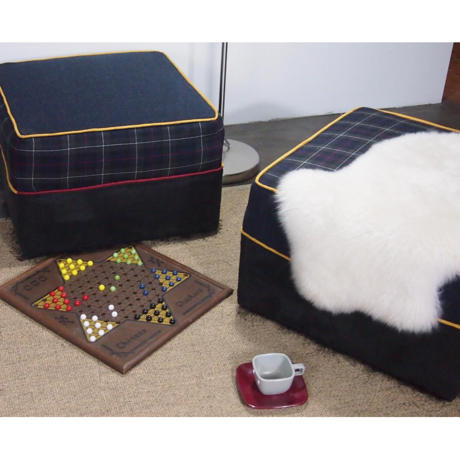 Reupholstered Large Ottomans-0