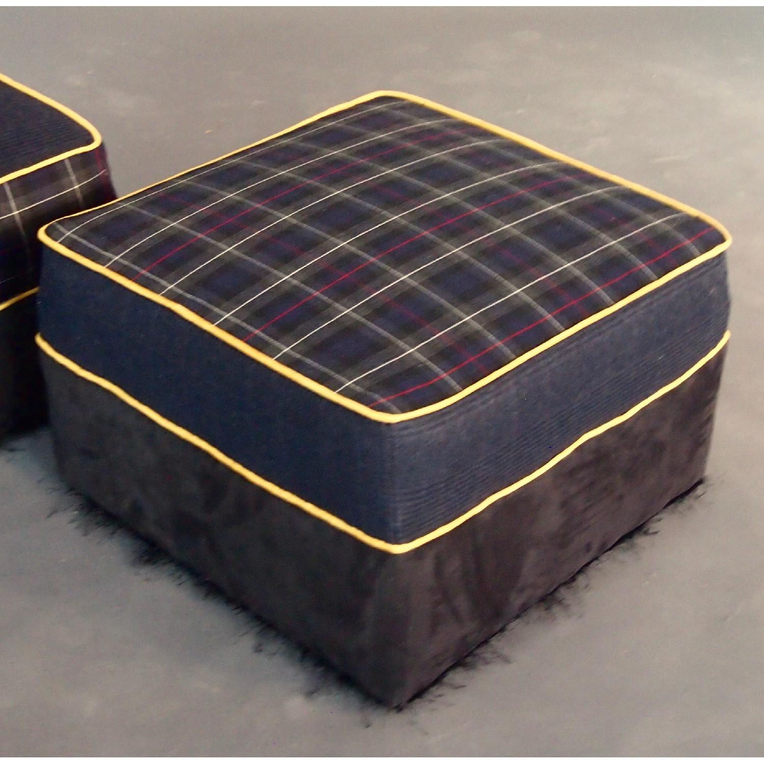 Reupholstered Large Ottomans-1