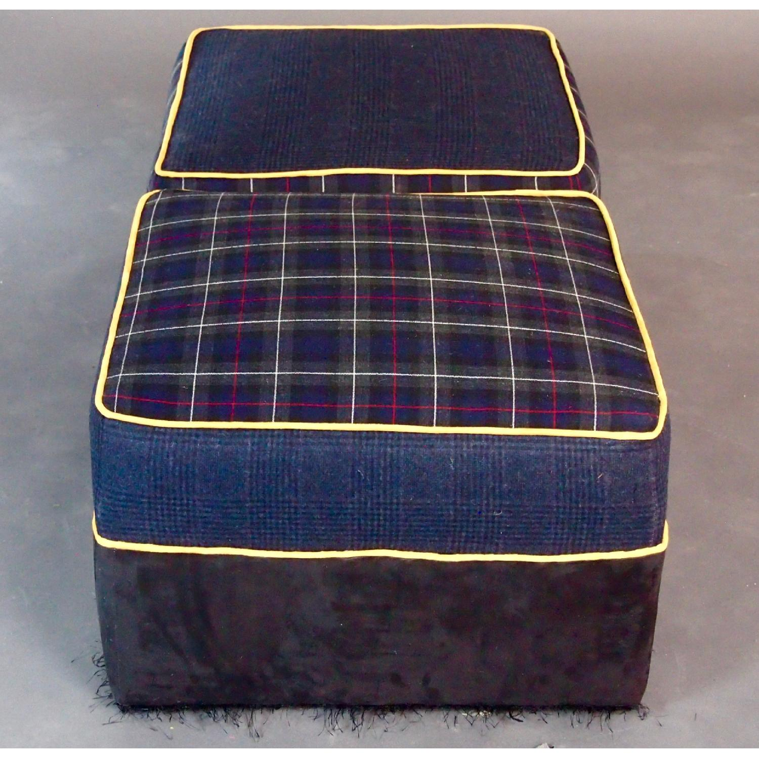Reupholstered Large Ottomans-2