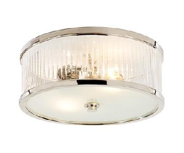 Silver Plated Crystal Ceiling Light