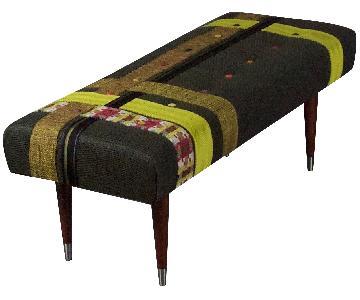 Layered Bench w/ Basketweave Detail