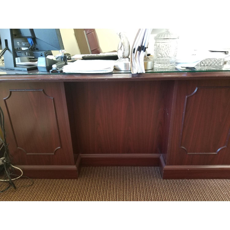Hon 94000 Double Pedestal Desk w/ Glass Top-0