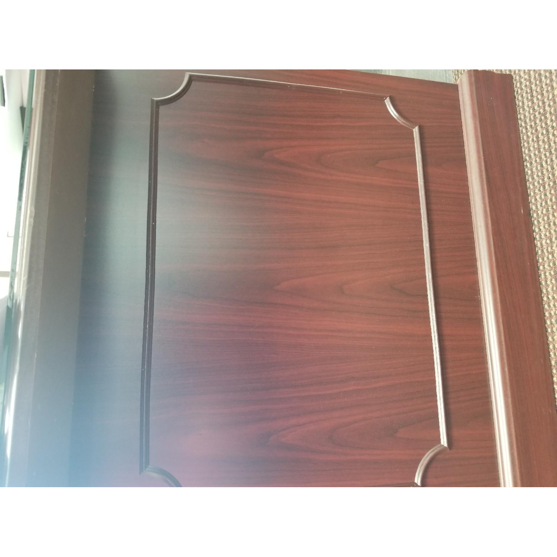 Hon 94000 Double Pedestal Desk w/ Glass Top-2