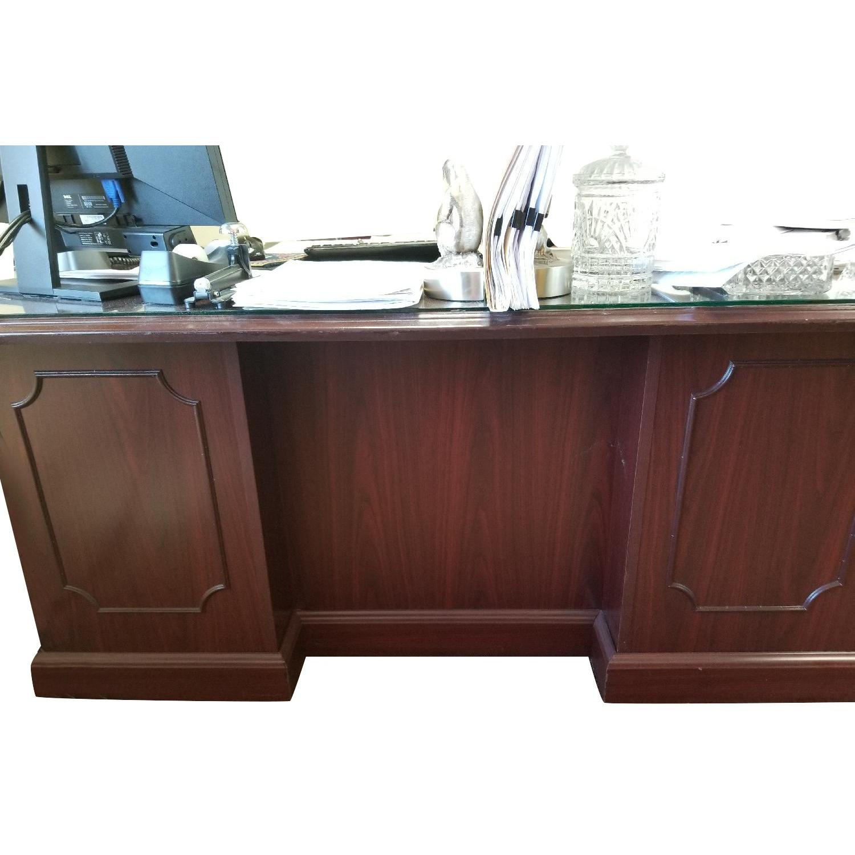 Hon 94000 Double Pedestal Desk w/ Glass Top