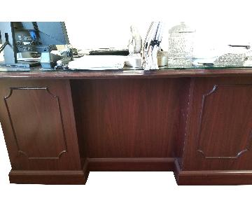 Hon 94000 Double Pedestal Desk w/ Glass Top