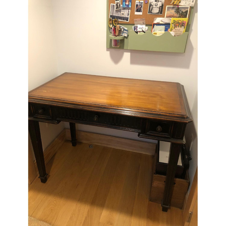 Wood Desk & Chair - image-0
