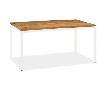 Room & Board Reclaimed Chestnut Top Table w/ White Legs
