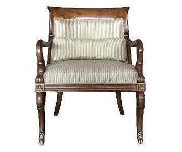 Beacon Hill Custom Wood Armchairs w/ Silk Fabric