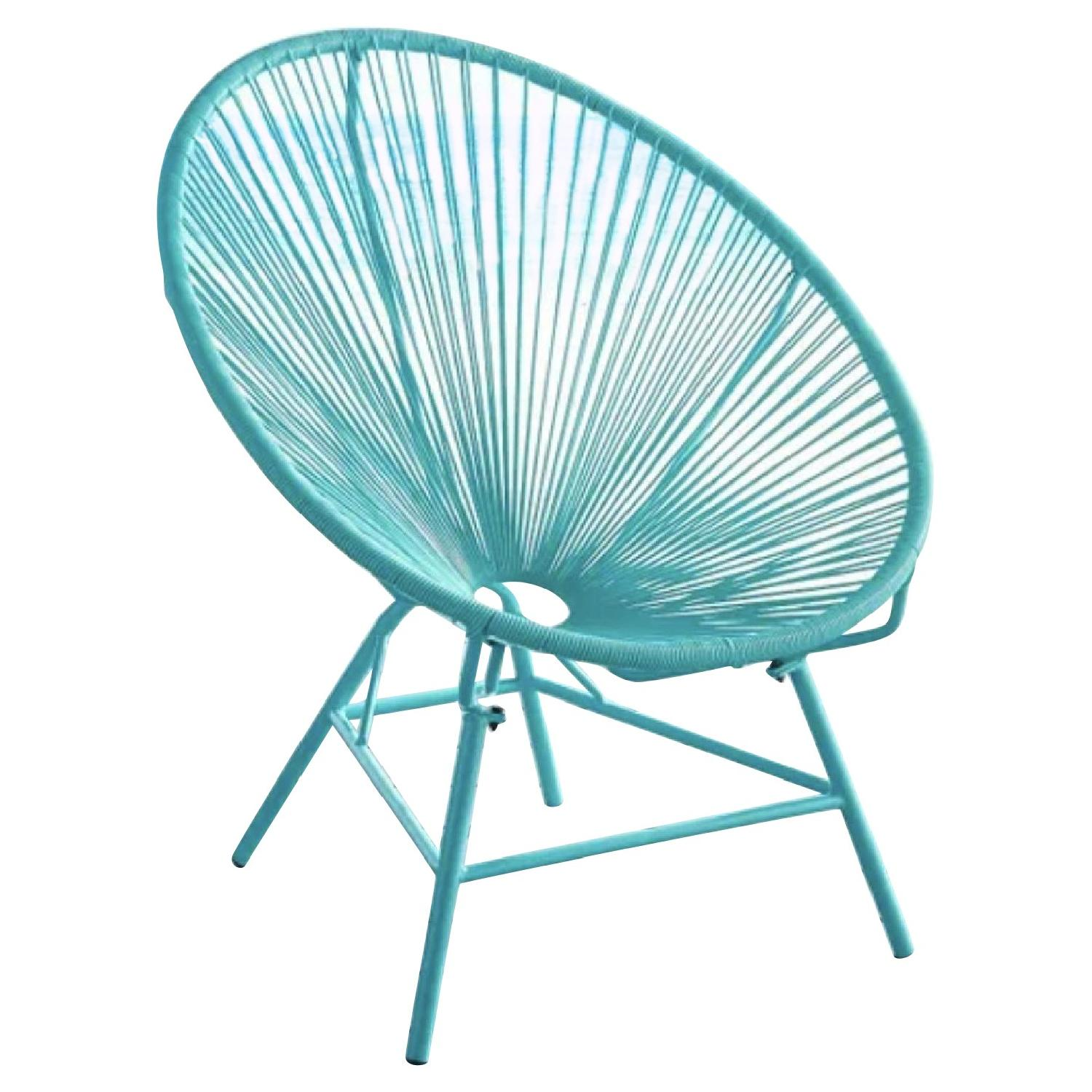 Pier 1 Luca Oval Turquoise Chair