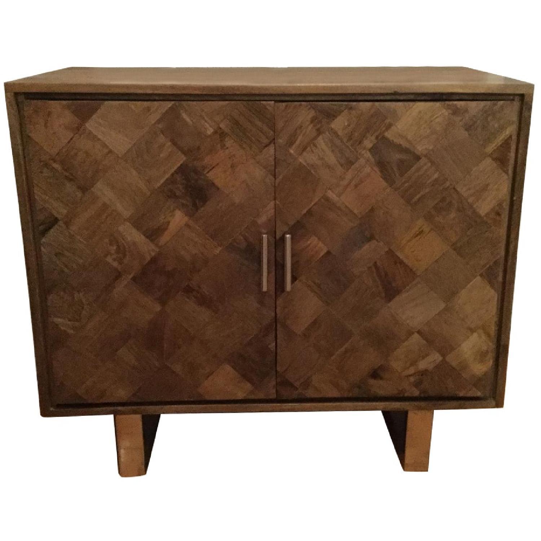 Cole & Grey 2 Door Wood & Metal Accent Cabinet