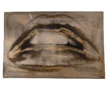 Oliver Gal Lips Canvas
