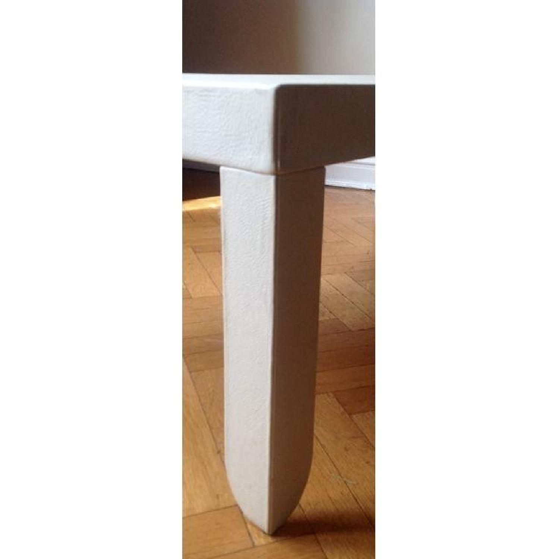 Poltrona Frau Creme Leather Coffee Table - image-2