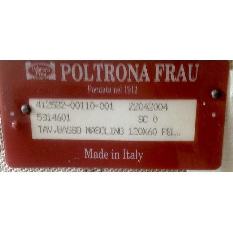 Poltrona Frau Creme Leather Coffee Table - image-6