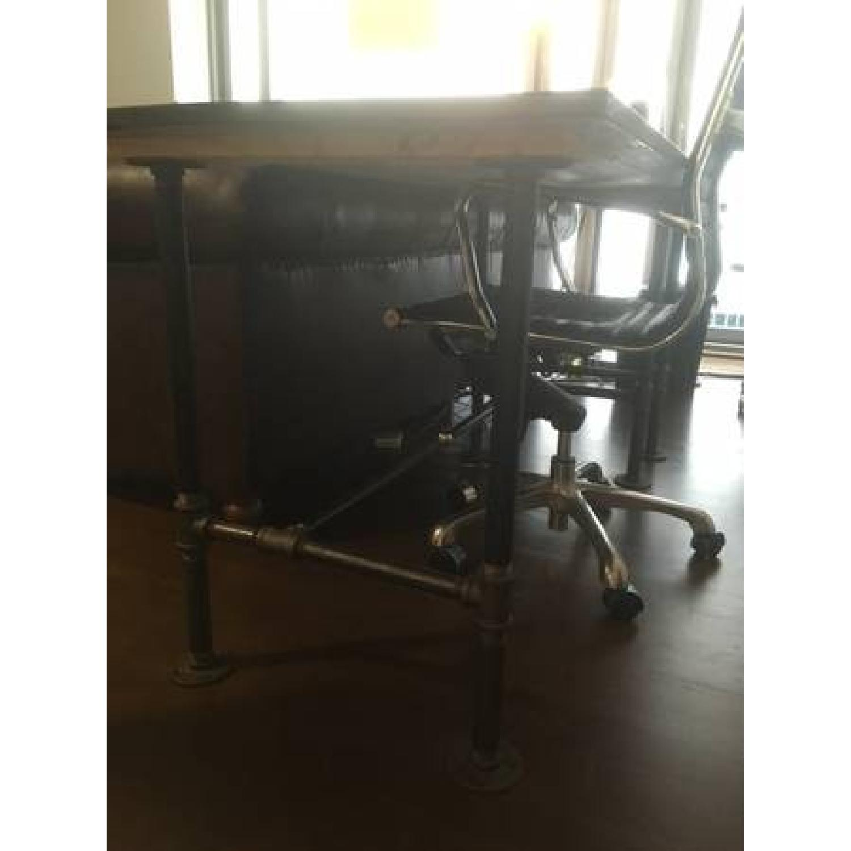 Industrial Reclaimed Heart Pine Wood Table/Work Station Desk - image-2