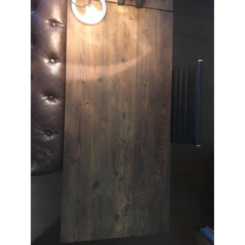 Industrial Reclaimed Heart Pine Wood Table/Work Station Desk - image-5