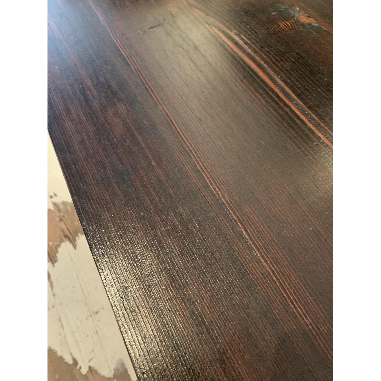 Industrial Reclaimed Heart Pine Wood Table/Work Station Desk - image-9
