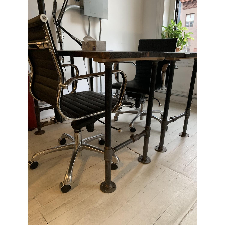 Industrial Reclaimed Heart Pine Wood Table/Work Station Desk - image-12