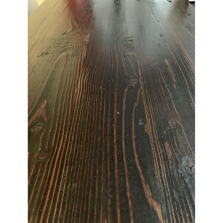 Industrial Reclaimed Heart Pine Wood Table/Work Station Desk - image-13