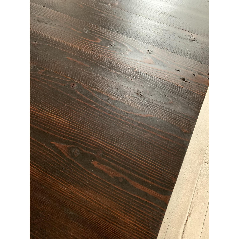 Industrial Reclaimed Heart Pine Wood Table/Work Station Desk - image-14